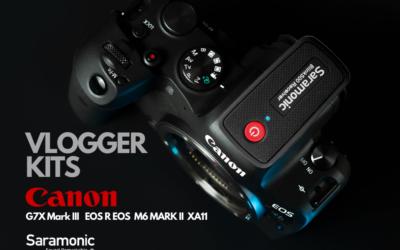 Zestawy Saramonic dla vlogerów z aparatami i kamerą Canona